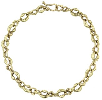 Ten Thousand Things Oval Link Cast Yellow Gold Chain Bracelet
