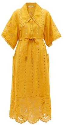 Vita Kin - Charlotte Broderie-anglaise Linen Dress - Yellow