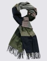 Marks and Spencer Block Stripe Scarf
