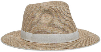 Eugenia Kim Lillian Metallic Grosgrain-trimmed Faux Straw Fedora