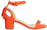 Aquazzura Pixie tassel-back suede sandals