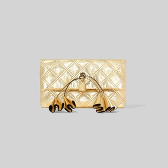 Marc Jacobs Sofia Loves The Metallic Leather Clutch