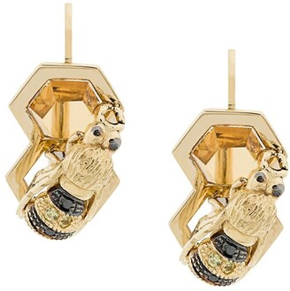Delfina Delettrez 9kt yellow gold To Bee or Not To Be earring