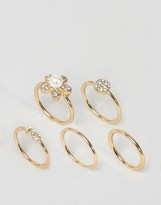 Asos Pack of 5 Stone Set Rings
