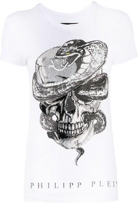 Philipp Plein Snake Skull-print cotton T-shirt