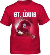 Majestic Little Boys' St. Louis Cardinals Kinetic Helmet T-Shirt