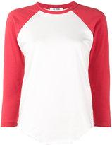 RE/DONE frayed baseball t-shirt - women - Cotton - XS