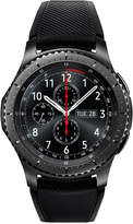 Samsung Gear S3 Frontier Smart Watch with 46mm Stainless Steel Case & Black Silicone Strap SM-R760NDAAXAR