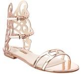 Sophia Webster Birdie Leather Flat Sandal.