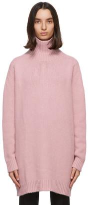 Lanvin Pink Cashmere Cape Turtleneck