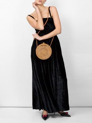ALEXACHUNG Spaghetti Strap Maxi Dress