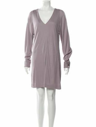 Maison Margiela Plunge Neckline Mini Dress w/ Tags Purple