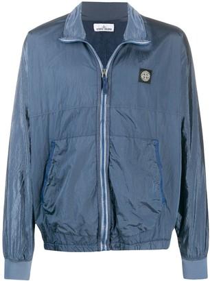 textured logo patch sport jacket