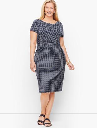 Talbots Knit Jersey Draped Sheath Dress