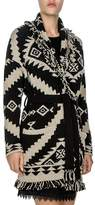 The Kooples Tribal-Inspired Jacquard-Pattern Fringed Cardigan