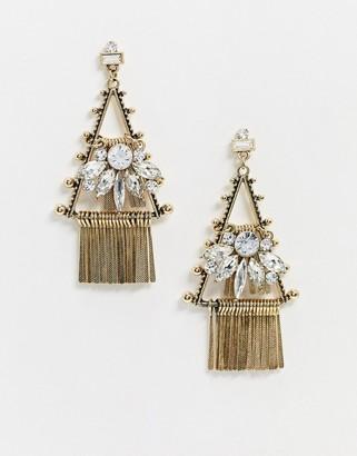 Aldo gold tassel drop down earrings