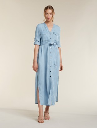 Ever New Belle Denim Maxi Shirt Dress