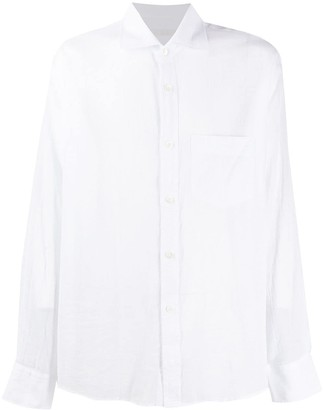 Our Legacy Cutaway-Collar Cotton Shirt