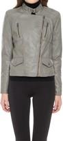 Max Studio Leatherette Seamed Moto Jacket