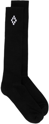 Marcelo Burlon County of Milan Cross Logo Ankle High Socks