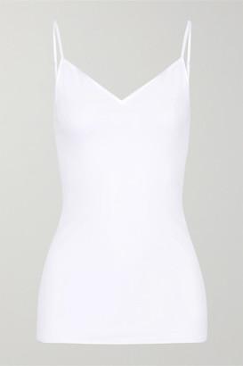 Hanro Satin-trimmed Mercerized Cotton Camisole - White