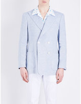 Richard James Double-breasted Linen And Wool-blend Jacket