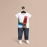 Burberry Rocket Telephone Box Print Cotton T-shirt