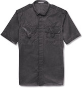 Bottega Veneta - Slim-fit Garment-dyed Cotton Shirt