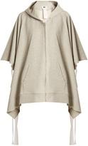 Maison Margiela Tie-side cotton hooded sweatshirt