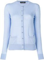 Dolce & Gabbana crystal button cardigan - women - Cashmere - 40