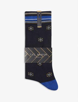 Ted Baker Geometric pattern cotton-blend socks