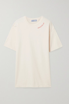 PARADISED Embroidered Cotton-jersey T-shirt - Ivory