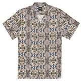 Burton Mens Tan Short Sleeve Paisley Printed Shirt