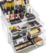 Sorbus Acrylic Cosmetics Makeup and Jewelry Storage Case X-Large Display Sets -Interlocking Scoop Drawers to Create Your Own Specially Designed Makeup Counter -Stackable and Interchangeable