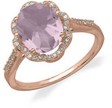 Lord & Taylor 14Kt. Rose Gold Diamond and Pink Amethyst Ring