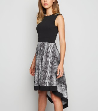 New Look Mela Snake Print Dip Hem Dress