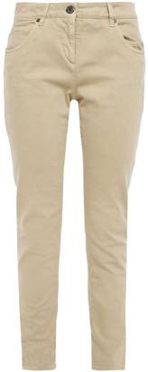Brunello Cucinelli Bead-embellished Mid-rise Slim-leg Jeans