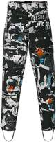 Versus logo print tapered trousers