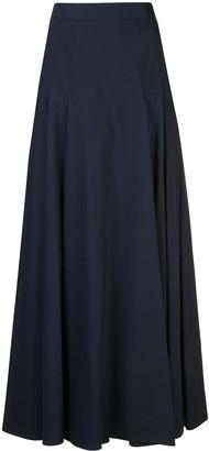 Carolina Herrera pleated A-line maxi skirt