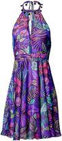 Matthew Williamson Blue Kantuta Valley Halter Dress