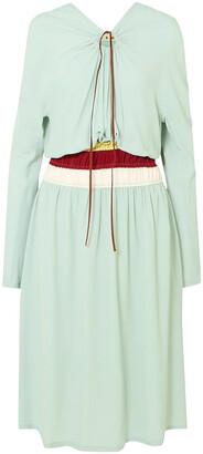 Marni Cutout Gathered Crepe Midi Dress
