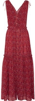 Ulla Johnson Chantelle Printed Silk-georgette Maxi Dress - Brick