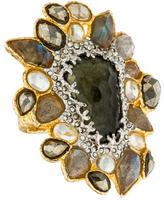 Alexis Bittar Labradorite, Quartz & Crystal Cluster Ring