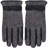 Leather & Herringbone Tweed Acomb Gloves