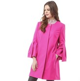 Ted Baker Womens Jordane Sculpted Sleeve Wool Coat Bright Pink