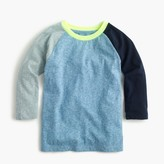 J.Crew Boys' three-quarter sleeve baseball T-shirt in the softest jersey