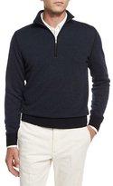 Loro Piana Roadster Cashmere Half-Zip Sweater, Navy