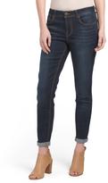 Dark Wash Rolled Cuff Ankle Jeans