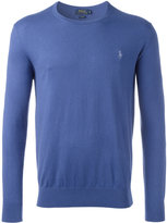 Polo Ralph Lauren logo patch jumper - men - Cotton/Cashmere - S