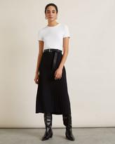 Jigsaw Knitted Midi Pleated Skirt